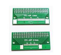 40Pin 0.5mm FFC FPC to 40 P DIP 2.54mm PCB Converter Board Adapter Cable Green&.