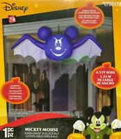 4.5' Gemmy Airblown Inflatable Disney Hanging Mickey Mouse as Bat