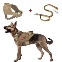 Tactical Service Military K9 Dog harness Working Patrol Dog Vest +Leash Set