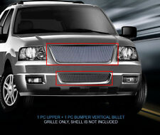 Fits 2003-2006 Ford Expedition Billet Grille Front Grill Combo 2pcs (03-06)