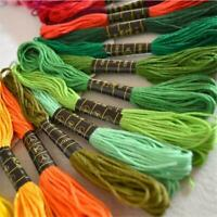 50 Multi Colors Cross Stitch Cotton Embroidery Thread Floss Sewing Skeins FS3