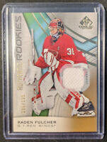 2019-20 SP Game Used Authentic Rookies Jersey /599 KADEN FULCHER Red Wings RC