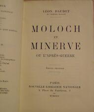 DAUDET Léon - MOLOCH ET MINERVE OU L'APRES GUERRE - EDITION ORIGINALE - 1924