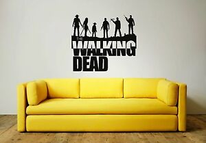 WALKING DEAD GROUP Wall Art Sticker, Decal, Mural, great for any flat surface