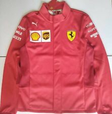 Scuderia Ferrari Racing Formula 1 Puma Mens Softshell Jacket Red Mock Neck M New