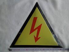VINTAGE Enameled Porcelain Tin SIGN Account Current high voltage