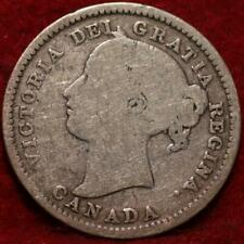 1900 Canada 10 Cents Silver Foreign Coin