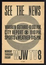 1960 WJW TV NEWS AD~WARREN GUTHRIE~CITY REPORT~SPORTS & WEATHER~CLEVELAND,OH