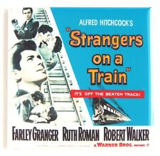 "Strangers on a Train Fridge Magnet movie poster alfred hitchcock ""style S"""