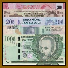 Paraguay 5000-100000 Guaranies (5 Pcs Set), 2015/2016 P-New Unc