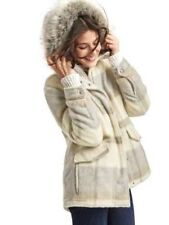 NWT Gap Wool blend parka Jacket Coat, Grey plaid  SIZE S       #464193  v92/1218