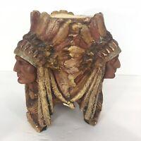 Tstk Vintage Pottery 3 Face Indian Native 1688 Rare Vintage