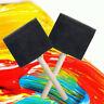 5Pcs Black Foam Sponge Brush Wooden Handle Painting For Kids Art Paintbrush Tool