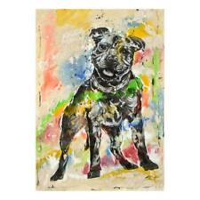 "Marta Wiley - ""Puppy Series"" One-of-a-Kind Mixed Media on Canvas Hand Signed COA"