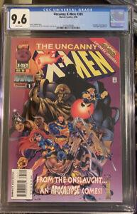 UNCANNY X-MEN #335 CGC 9.6 JOE MADUREIRA ART~MARVEL COMICS BOOK WOLVERINE
