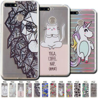 Fashion Clear TPU Rubber Case Cover Slim Skin Painted Soft Back For Huawei Honor