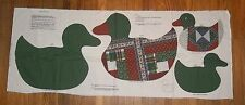 ViP Calico Patchwork Duck Stuffed Animal Pillow Cotton Vintage OOP Fabric Panel