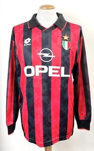 VINTAGE AC MILAN 1994 LOTTO MAGLIA LONG SLEEVE SHIRT No.5 LARGE