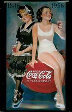 Coca Cola Bathing Beauty Blechschild Tin Sign 3D geprägt gewölbt 20 x 30 cm
