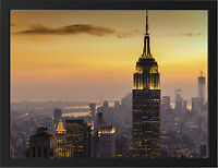 NEW YORK CITY SUNSET NEW A3 FRAMED PHOTOGRAPHIC PRINT POSTER