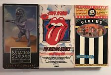 3x Rolling Stones VHS Circus-Great Video Hits- Bridges to Babylon Live Concert