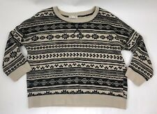 Forever 21 Ladies Aztec Design Jumper size Large 3/4 sleeve
