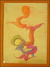 Fritz Klee original Pastell Zeichnung v.1952/ 31x22,5cm