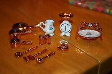 Vintage Rare Mattel Copper Color Cook Set-Used-Sold As Is