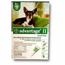 Bayer Advantage II for Dogs (Green) | 0-10lbs | 4 doses | Kills Fleas <$5 month