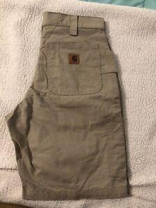 NWOT Carhartt Washed Duck Work Carpenter Shorts Men's Size 32X10 Tan (41)