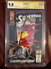 1993 DC Superman #75 Direct Variant 2nd Printing CGC 9.8 SS Dan Jurgens