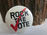 Vintage Rock the Vote Original 90's Pinback Button Pin Promo MTV E1
