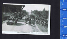 Tanks of the Mechanized Army - 1940s Military Postcard W. R. Thompson