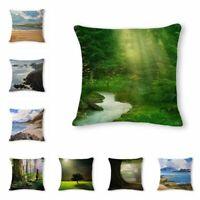 Scenery Linen Cotton Fashion Throw Pillow Case Cushion Cover Home Sofa Decor