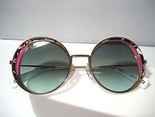 NEW MARC JACOBS SUNGLASSES 266 OVERSIZE ROUND GOLD GREEN MR4EQ w/ CASE