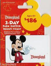 Mickey Mouse Collectible Disney Gift Card No Cash Value Disneyland Park Hopper