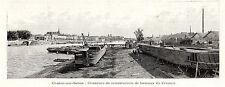 71 CHALONS SUR SAONE CHANTIERS DE CONSTRUCTION BATEAUX BOAT IMAGE 1896 PRINT