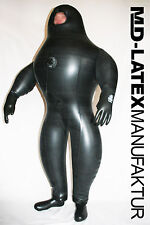 "MD-Latex ""Black Cyborg II"" 1,5mm GONFIABILE NUOVO heavy rubber latex TUTA in lattice"