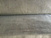 GREY CHENILLE FABRIC...CURTAIN/CUSHION/UPHOLSTERY Sold by the metre.
