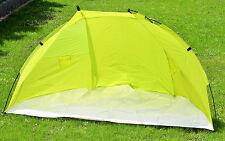 Strandmuschel Strandzelt Sonnenschutzzelt Windschutz Zelt Grün 218x115x115cm Neu