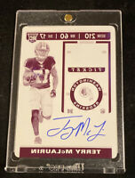 2019 CONTENDERS OPTIC TERRY MCLAURIN PRINTING PLATE PRIZM AUTO SSP RC #'d 1/1!