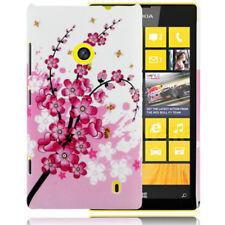 HardCase Backcover Schutzhülle für Nokia Lumia 520 Blüten pink weiß Case Cover