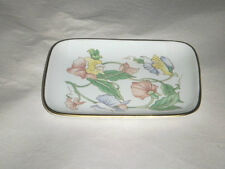 """FINE CHINA PORCELAIN 6.50"""" X 5"""" FLORAL PLATE EXCLUSIVELY BEN RICKERT MADE JAPAN"""