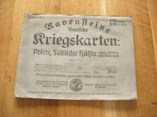 alte Landkarte Ravensteins Deutsche Kriegskarten Nr.8 Polen Südliche Hälfte