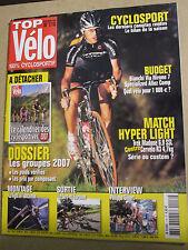 TOP VELO N°116: NOVEMBRE 2006: MATCH HYPER LIGHT - PHILIPPE GILBERT - GROUPES 07