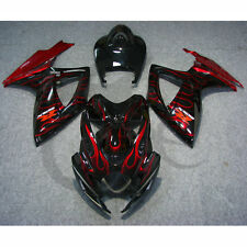 Red Flames ABS Body Work Kit Fairing For SUZUKI GSXR GSX-R 600 750 2006-2007 K6