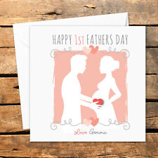 Personalised Handmade Happy First 1st Fathers Day Card Dad Daddy To Be Love Baby