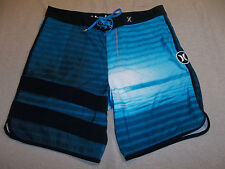 HURLEY PHANTOM BOARDSHORTS BOARD SHORTS BLOCK PARTY BLUE MEN'S 34 ~GREAT~