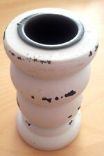 BEACH HOUSE COASTAL CHURCH DINNER CANDLE HOLDER CANDLESTICK SMALL WHITE FRENCH