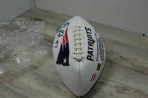 New England Patriots Rob Gronkowski Autograph Football White No COA (f)